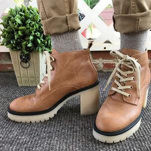 FREE PEOPLE Chunky High Heel Work Booties NEW 41